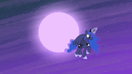 Luna flying down