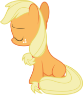 Sad filly Applejack