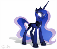 FANMADE Princess Luna with glowing eyes