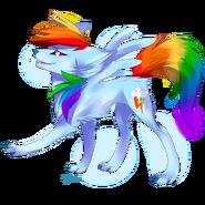 Wolf rainbow dash by affanita-d55y3bp