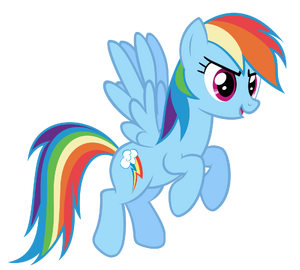 Rainbow Dash in flight