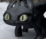 Toothless staring on ice