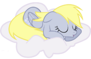 Derpy sleeping in the clouds