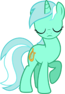Lyra eyes closed