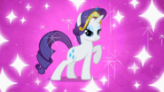 Rarity with crown and sparkles