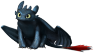 Toothless sitting with transparent background