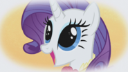 Rarity with sparkles in eyes