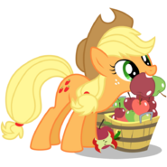 Applejack mouth filled with apples