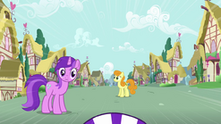 Amethyst staring at Scootaloo S3E6