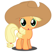 Applejack filly with hat