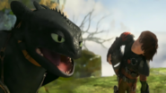 Toothless and Hiccup talking