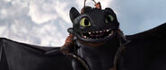 Toothless falling through the sky