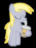 Derpy drinking a milkshake