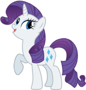 Happy Rarity with leg in air