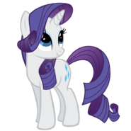 Rarity looking forward with a smile