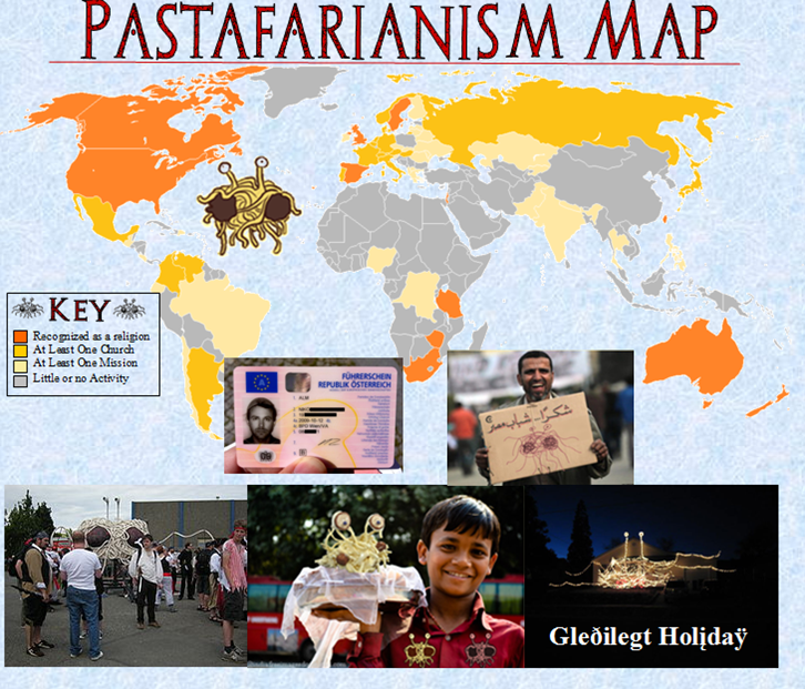Pastafarianism Flying Spaghetti Monster Wiki FANDOM Powered By - World religion map wikipedia