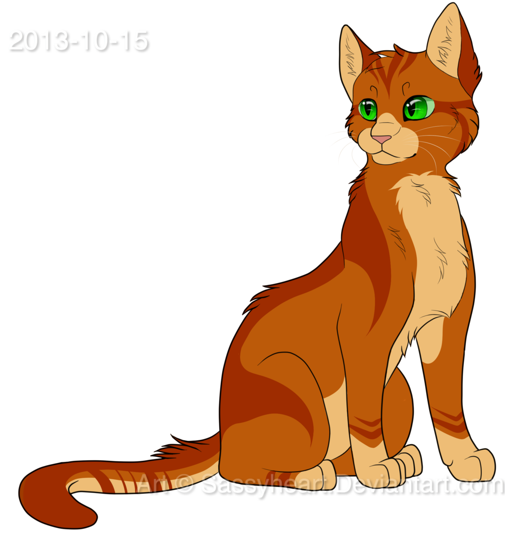 Warriors Cats Into The Wild Movie: Image - New Firepaw Design By Sassyheart-d6qmce4.png