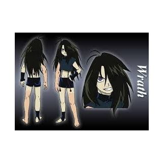Official Artwork of Wrath from the 2003 Anime Series.