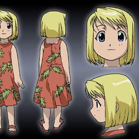 Winry as a child.