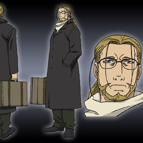 Hohenheim of Light in his usual outfit.
