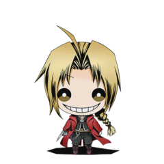 Ed's doll from the Japanese smartphone game <i>Divine Gate</i>, 2015.