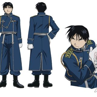 Roy's concept wearing his military uniform.