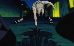 Kisara cleaves the ground