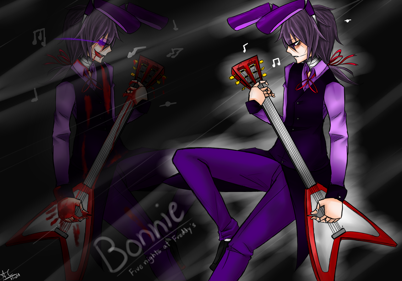 image bonnie the rabbit five nights at freddy s by allencrist