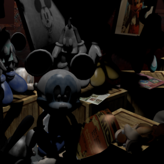 Abandoned Photo Negative Mickey in Suit