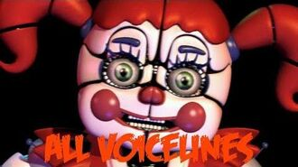 Circus Baby All Voicelines with Subtitles Ultimate Custom Night