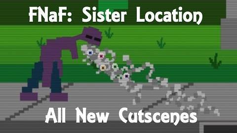 "All New Cutscenes - Five Nights at Freddy's Sister Location Custom Night ""Minigames"""