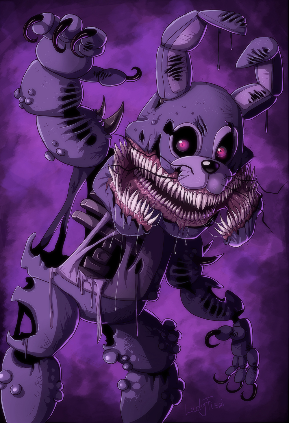 Fnaf Coloring Pages Bonnie - Coloring Pages Kids 2019 | 1461x1000