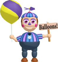 Mmd fnaf balloon girl jj dl by solobaka-daxt6ni