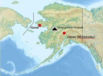 čiernu pyramídu pod Aljaškou
