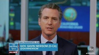 """Governor Gavin Newsom Says California Will """"Rely Disproportionately on Ourselves"""" The View"""