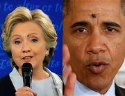 Obama Clinton Fly