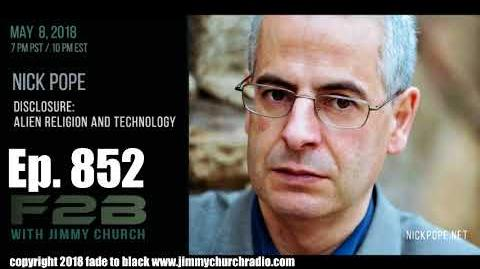 Ep. 852 FADE to BLACK Jimmy Church w Nick Pope Disclosure Alien Religion and Technology LIVE