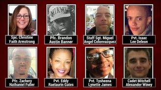 """Eight US multi-ethnic soldiers killed in Fort Hood """"training accident"""" named"""