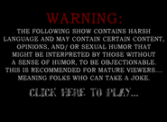 Warning screen 2