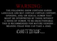Warning screen 1