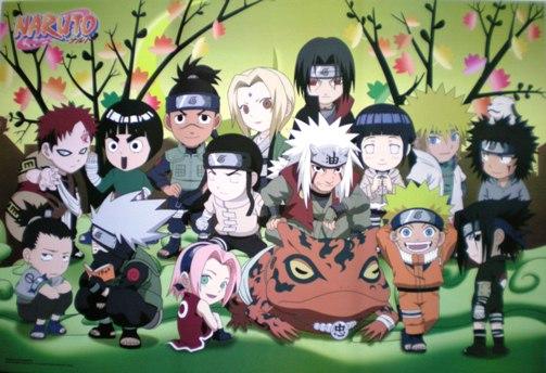 Naruto Chibi Characters Anime Wallpaper 1