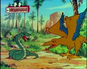 Archaeopteryx and Snake