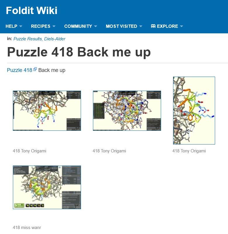 Puzzle Results | Foldit Wiki | FANDOM powered by Wikia