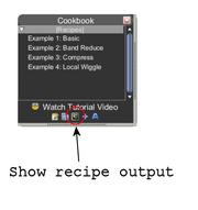 Cookbook show recipe output