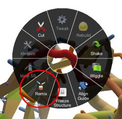Level 3-5 Remix Wheel Menu