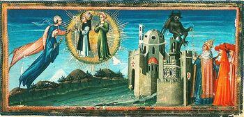1K002578 Divine Comedy Giovanni di paolo