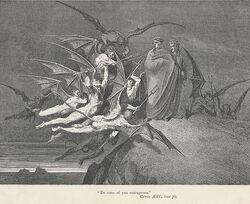 Gustave Dore Inferno Canto 21