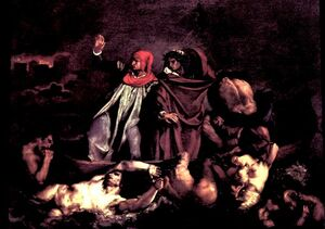 Eugène Delacroix The Barque of Dante 1822
