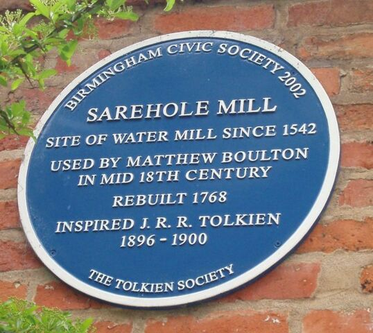 File:Tolkien's Sarehole Mill blue plaque.jpg