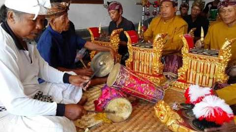 Kelentangan a beautiful Balinese music of Hindu ceremony in Bali